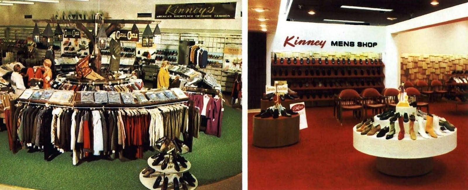 Retro sixties Kinney shoe stores (1966)