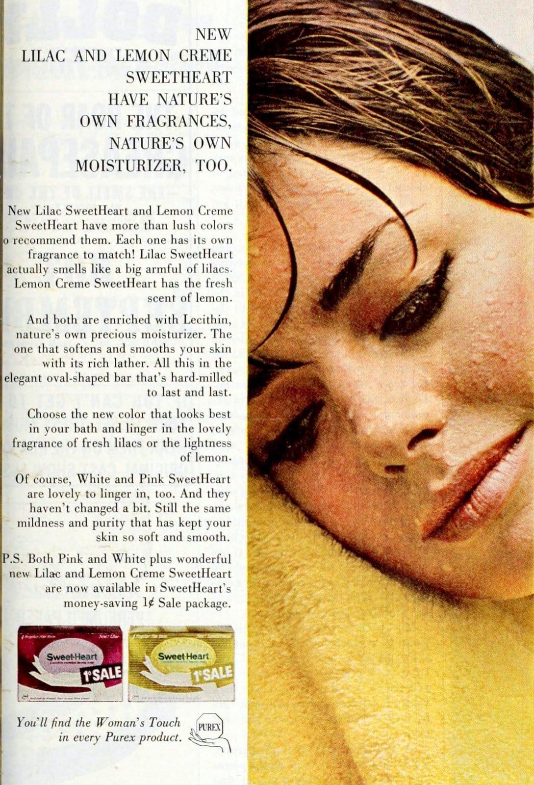 Retro sixties Sweet Heart bar soap 1965 (2)