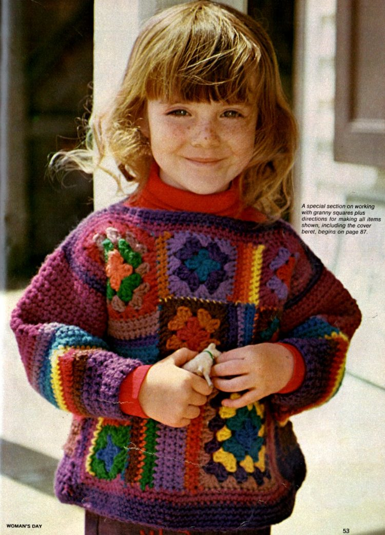 Retro-style Granny squares are easy to crochet 1974 (3)