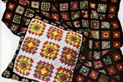 Retro-style granny squares are easy to crochet