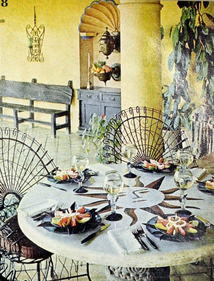 Retro table setting idea from the 60s - 1968 (6)