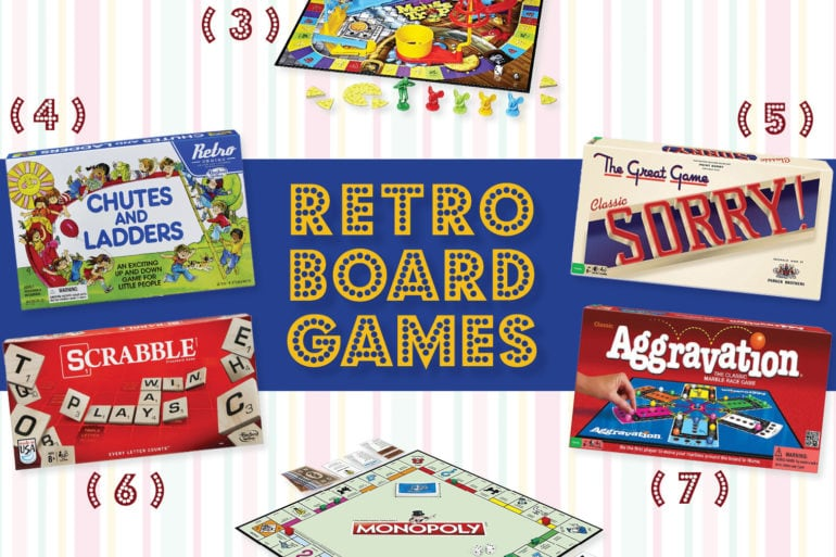 Retro versions of classic board games you can get again