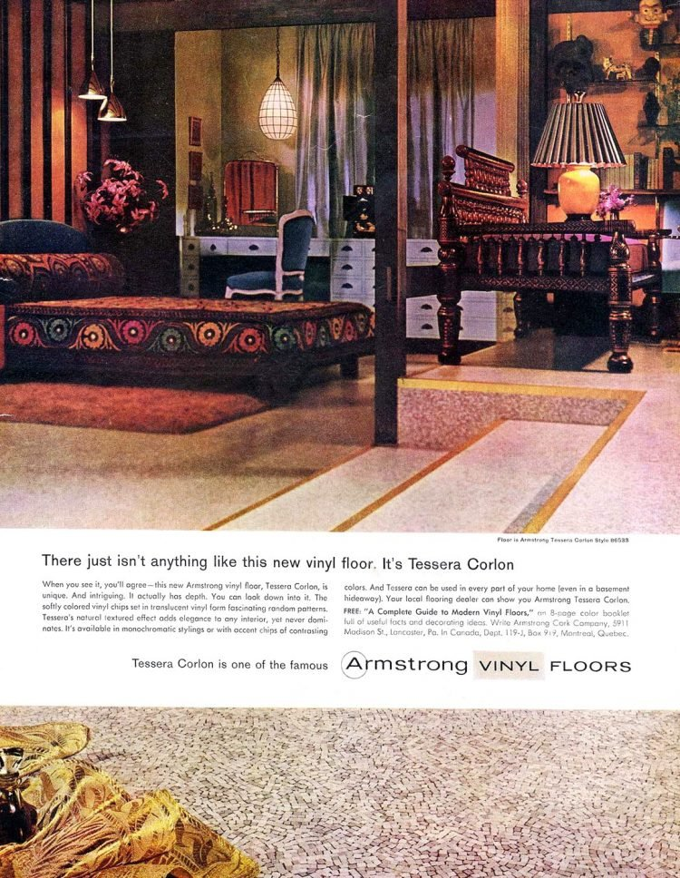 Retro vinyl flooring from 1959 - Tessera Colron