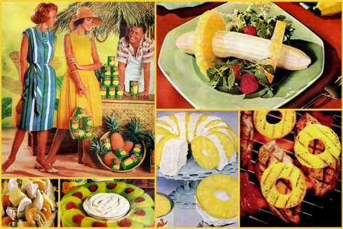 Retro ways to serve pineapple - vintage recipes