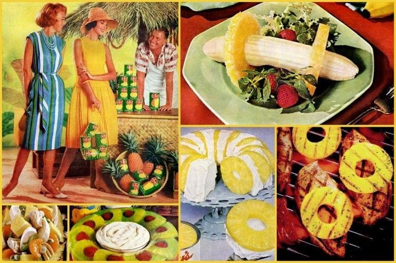 Retro ways to serve pineapple - vintage recipes