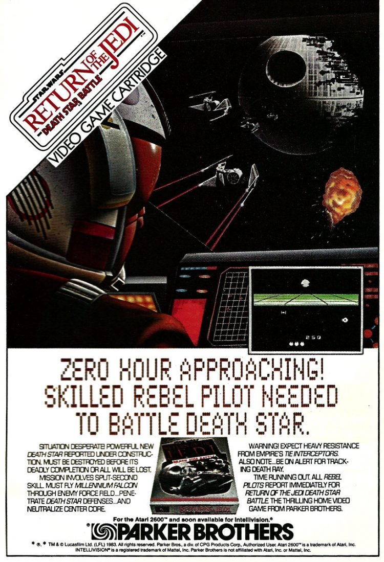 Return of the Jedi - Star Wars video game 1983