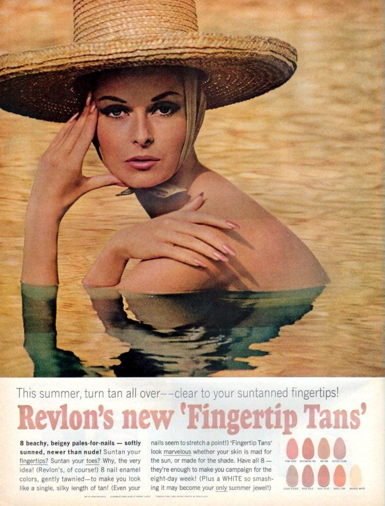Revlon Fingertip Tans - nail polish from 1964