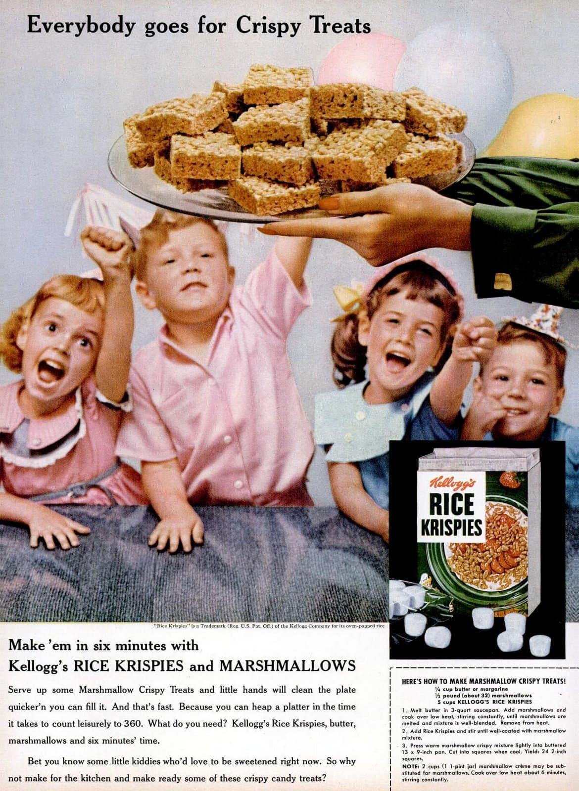 Original Rice Krispies Treats recipe - Marshmallow Crispy Treats (1955)