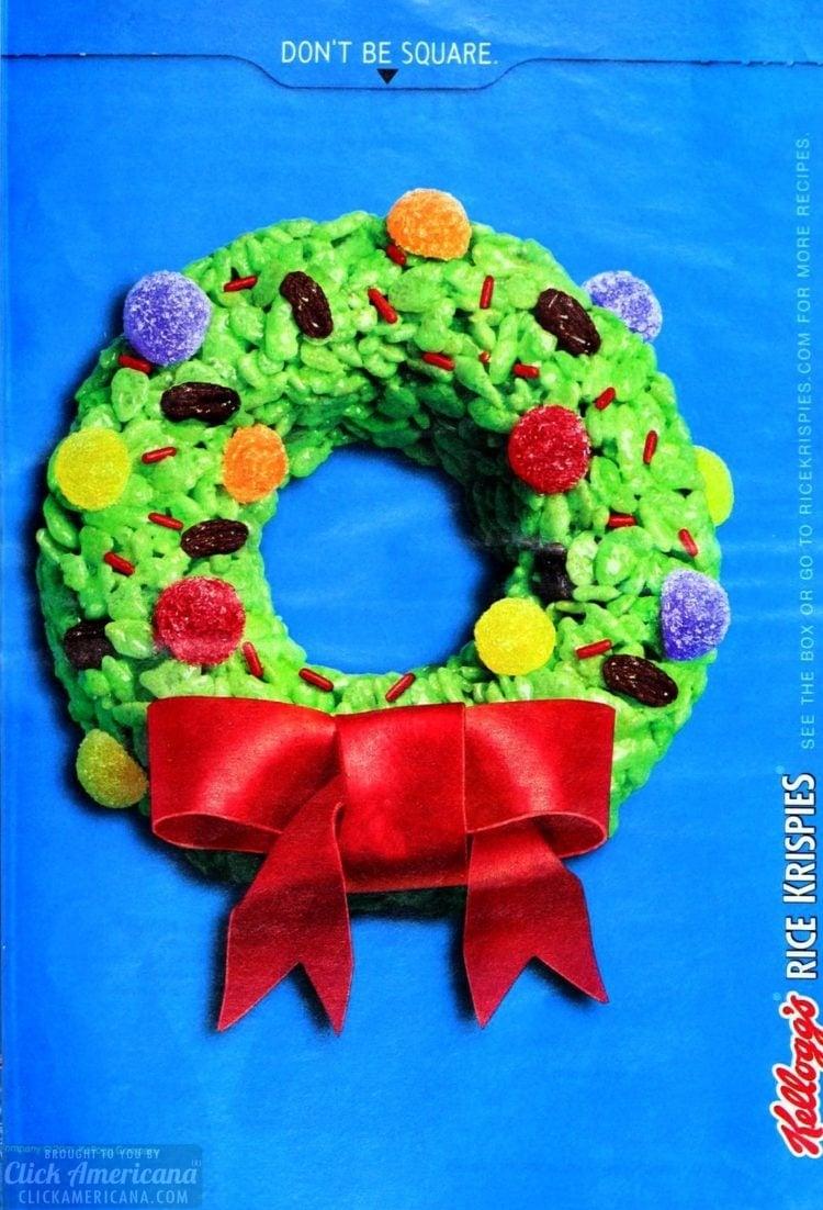 Rice Krispies Christmas wreath treats (1999)
