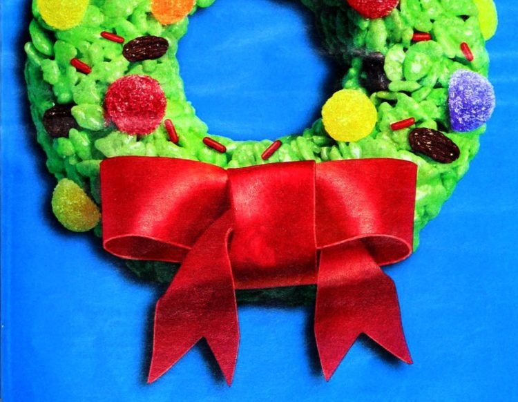 Rice Krispies Christmas wreath treats