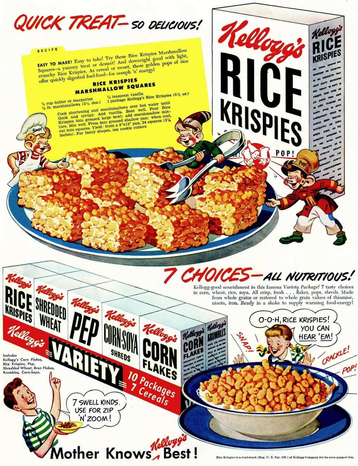 (1948) Original Rice Krispies Marshmallow Squares