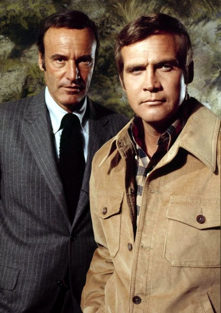 Richard Anderson and Lee Majors - Six Million Dollar Man TV show actors