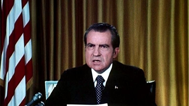Richard Nixon - first Watergate speech