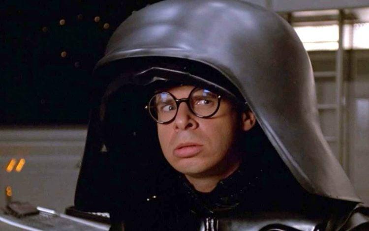Rick Moranis with helmet in Spaceballs