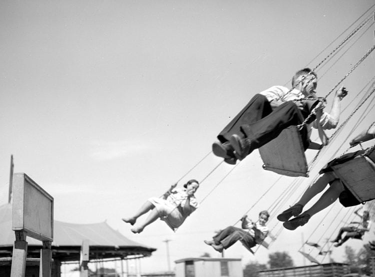 Ride at the carnival Fourth of July celebration Vale, Oregon 1941