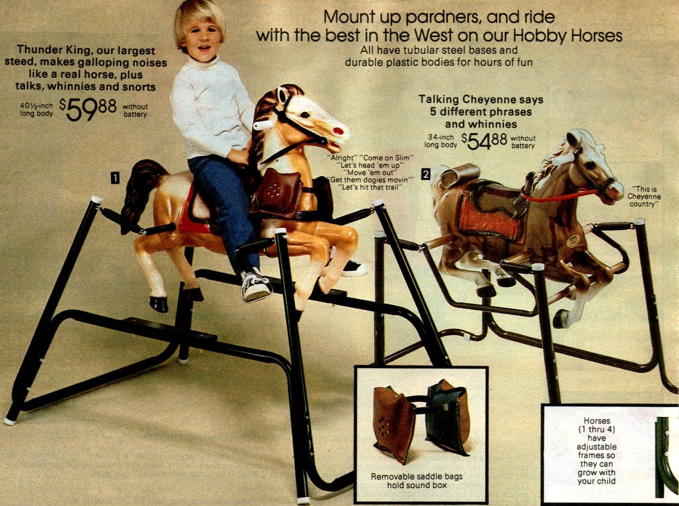 Ride on horse toys 1981