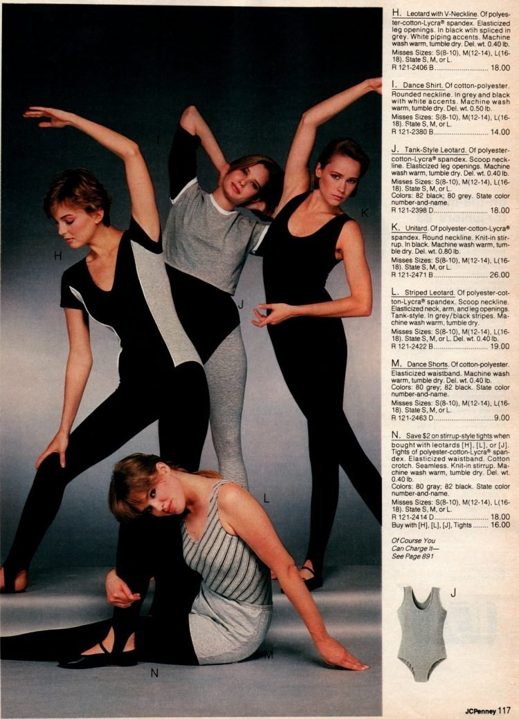 Rights and leotards from 1983