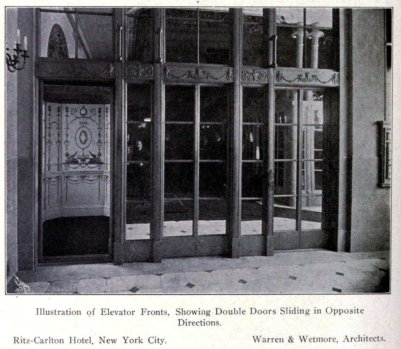 Ritz-Carlton NYC elevator descign (c1912) - ClickAmericana com