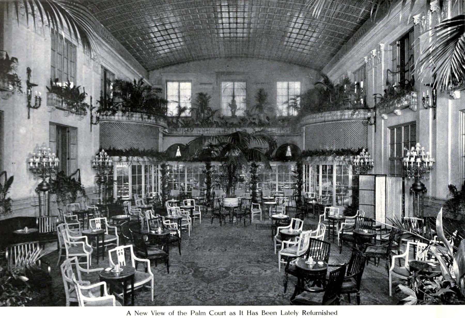 Ritz hotel Palm Court (1913) - ClickAmericana com