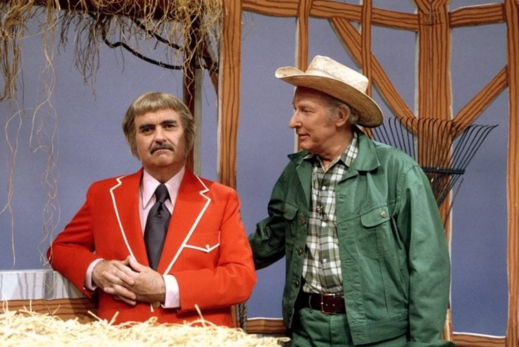 Robert Keeshan as Captain Kangaroo and Hugh Brannum as Mister Green Jeans