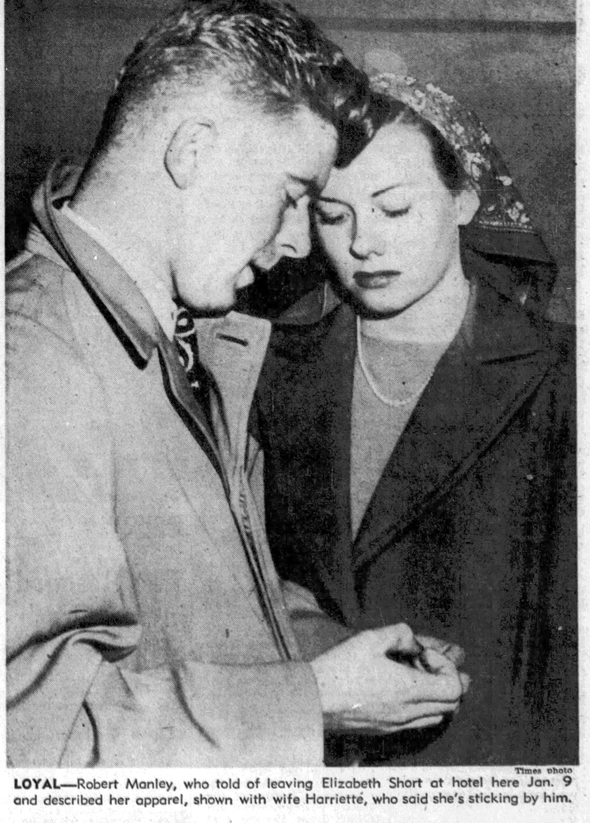 Robert Red Manley with wife - LA Times - January 21 1947