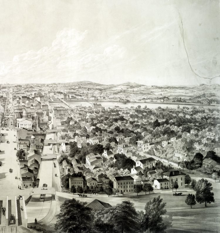 Rochester New York view from 1853 (1)