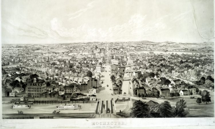 Rochester New York view from 1853 (2)