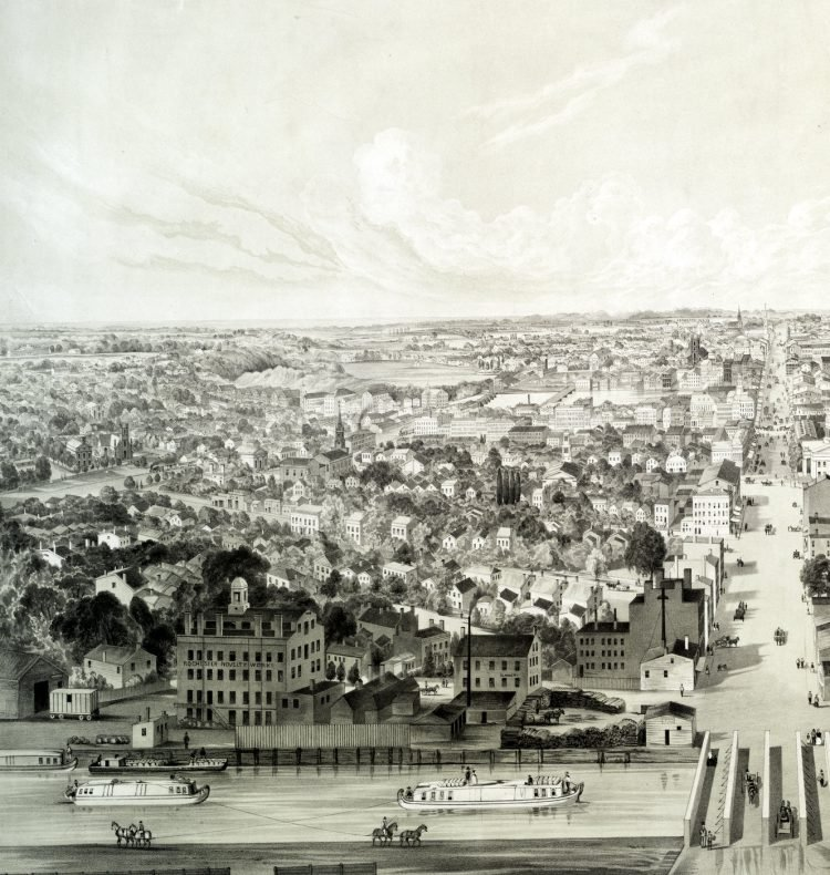 Rochester New York view from 1853 (3)