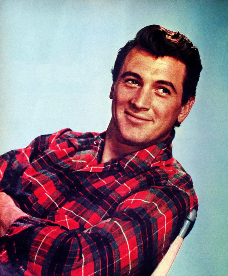 Rock Hudson in plaid from 1950