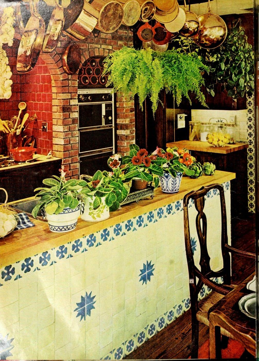 Rock Hudson kitchen - 1976 House Beautiful 3