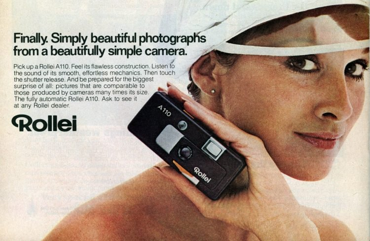 Rollei A110 camera from 1978