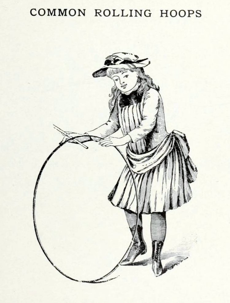 Rolling hoop toys for children from 1901