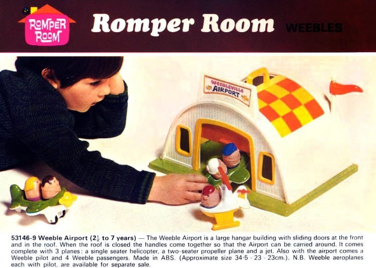 Romper Room Weebles toys from 1973