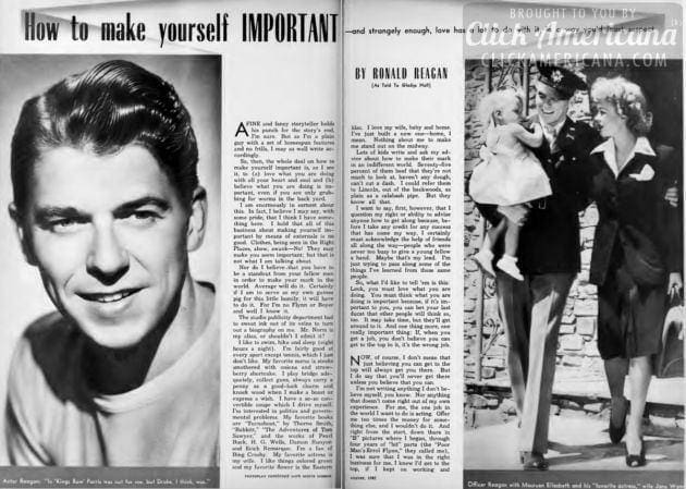 Ronald Reagan - How to make yourself important 1942