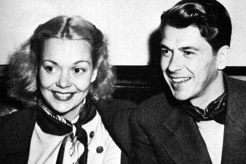 Ronald Reagan and Jane Wyman 1940