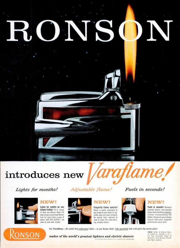 Ronson butane table lighter from 1958