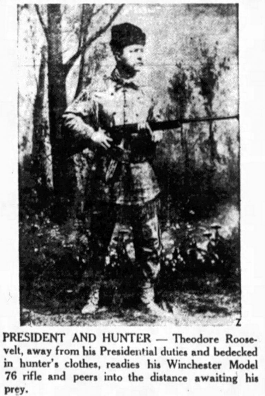 Roosevelt with a Winchester gun