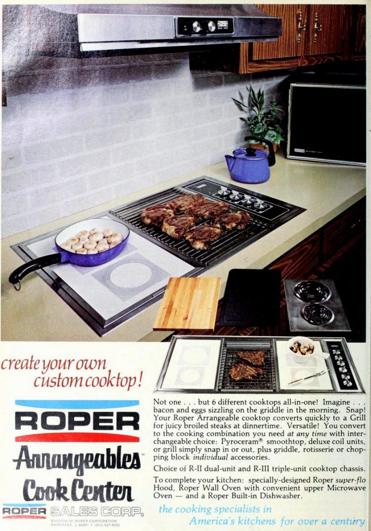 Roper flat-top kitchen stove from 1978