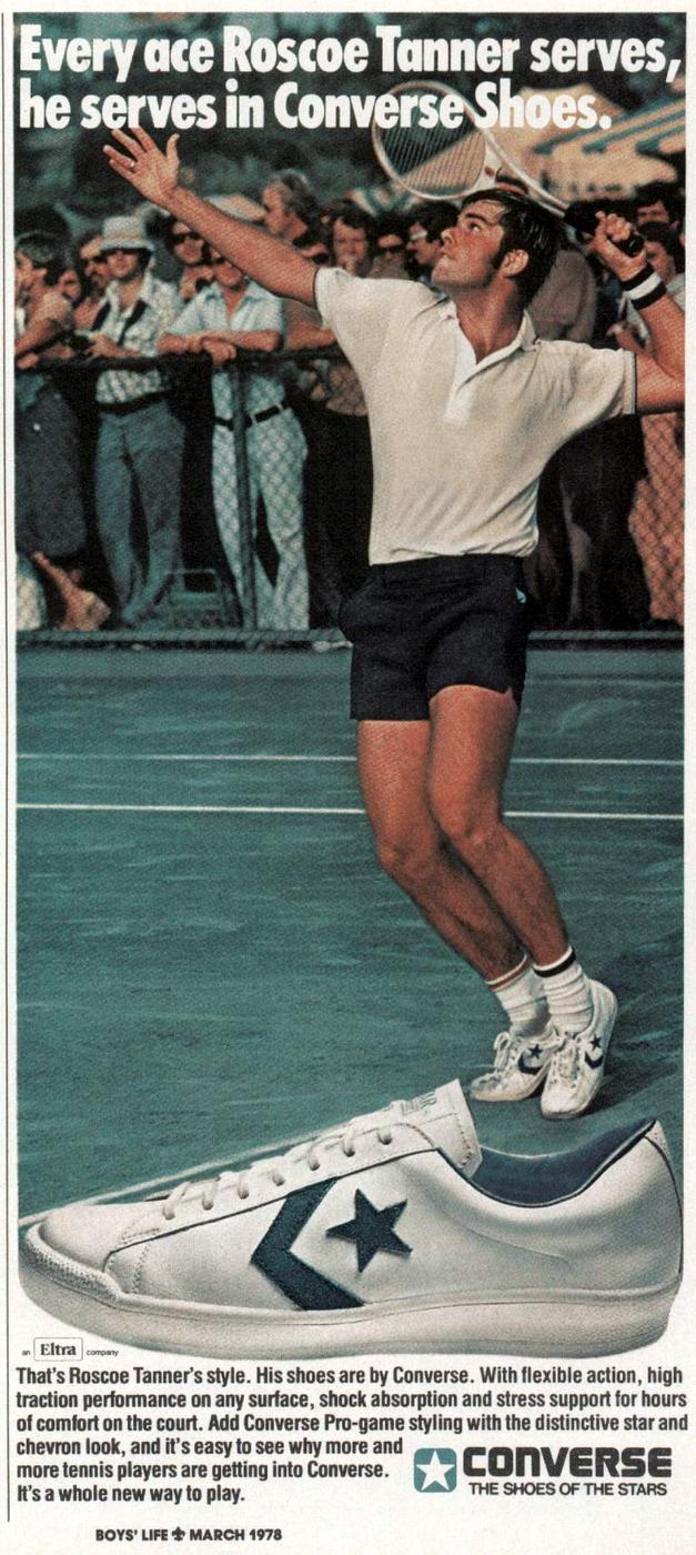 Roscoe Tanner - Vintage 70s Converse tennis shoes from 1978