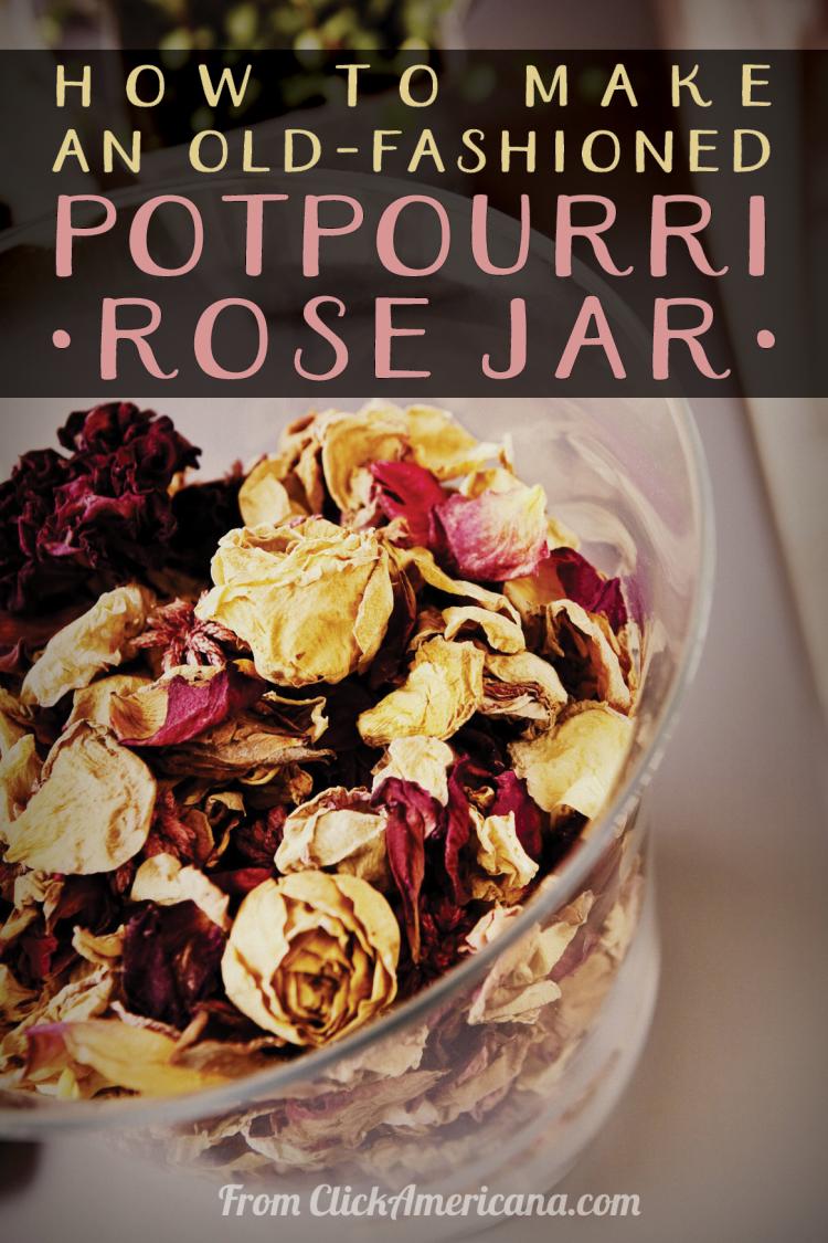Rose jar potpourri