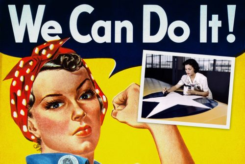 Rosie the Riveters and other women war workers from WWII