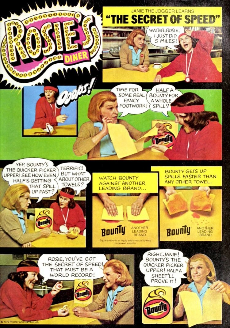 Rosie's Diner - Bounty paper towels from 1979
