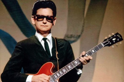 Roy Orbison with red guitar