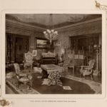 Royal Suite drawing room - Inside the Waldorf-Astoria Hotel - 1903