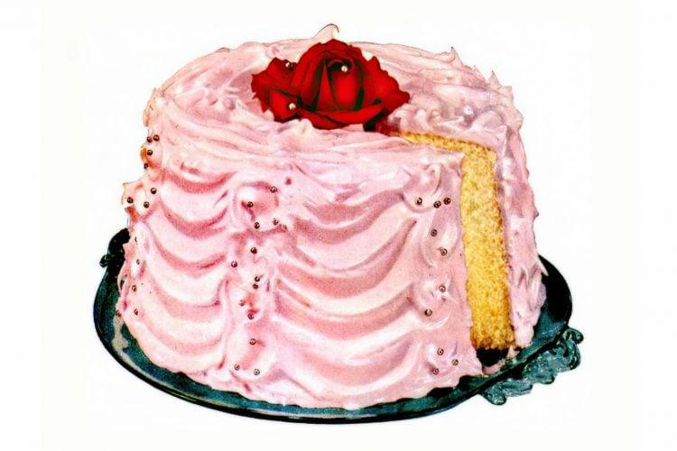 Royal rose chiffon cake vintage 1953