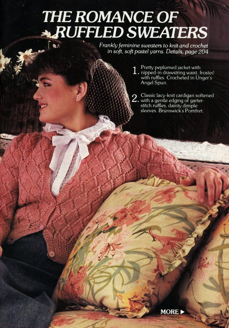 Ruffled sweaters - Vintage women's fashions from Feb 1982 (2)