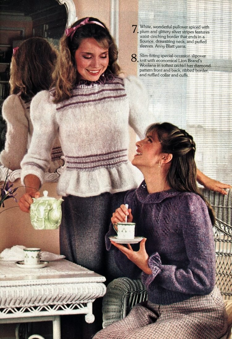 Ruffled sweaters - Vintage women's fashions from Feb 1982 (3)