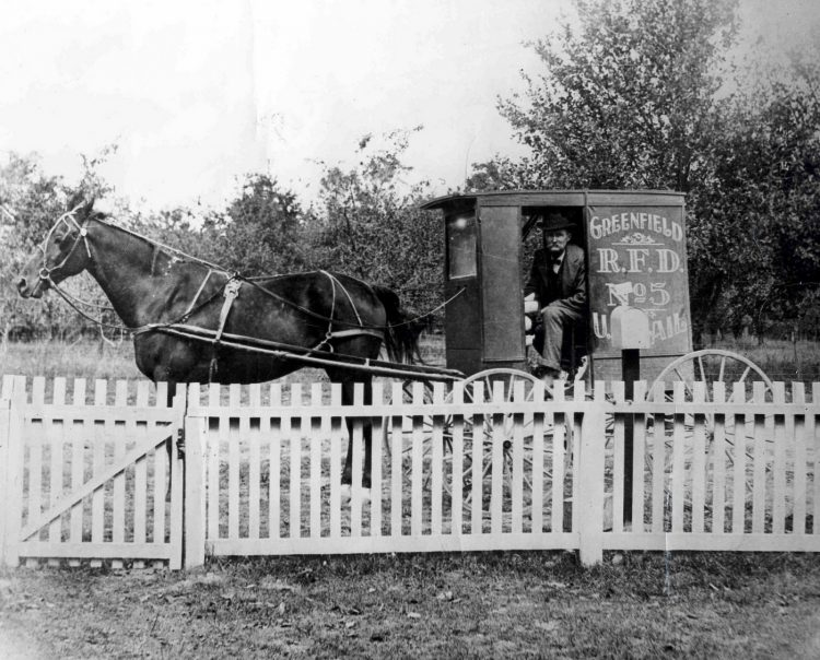 Rural Free Delivery Carrier in Greenfield, Indiana 1905
