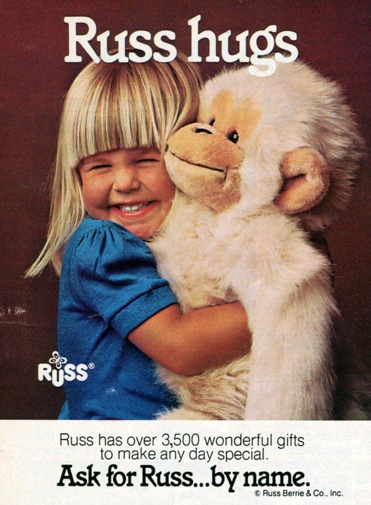 Russ plush toy - Monkey orangutan gorilla simian stuffed animal
