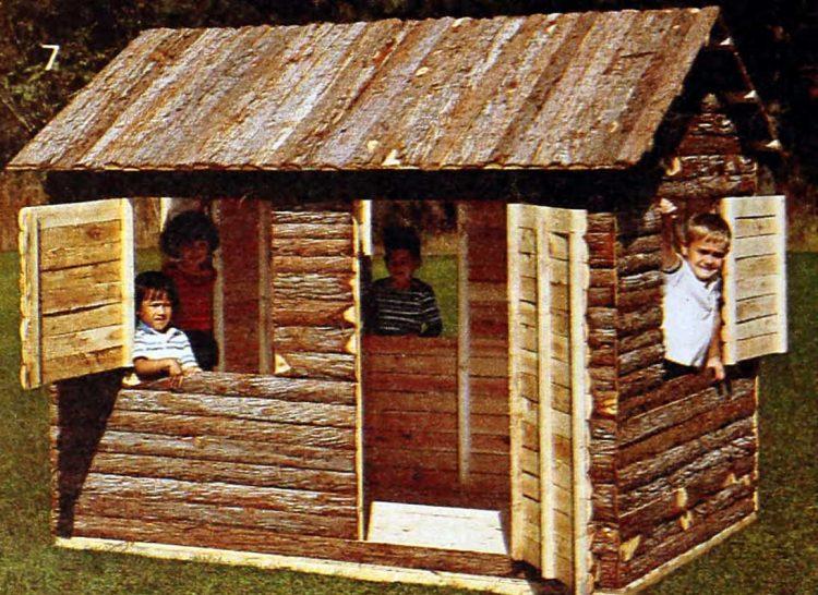 Rustic cedar wood fort - playhouse from 1985